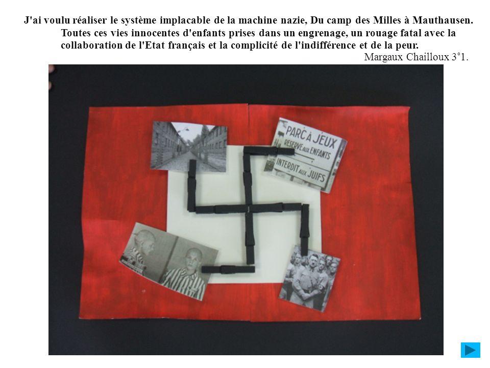 J'ai voulu réaliser le système implacable de la machine nazie, Du camp des Milles à Mauthausen. Toutes ces vies innocentes d'enfants prises dans un en