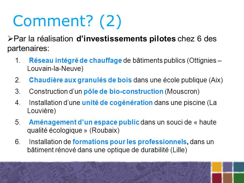 Comment. (2) 1. Réseau intégré de chauffage de bâtiments publics (Ottignies – Louvain-la-Neuve) 2.