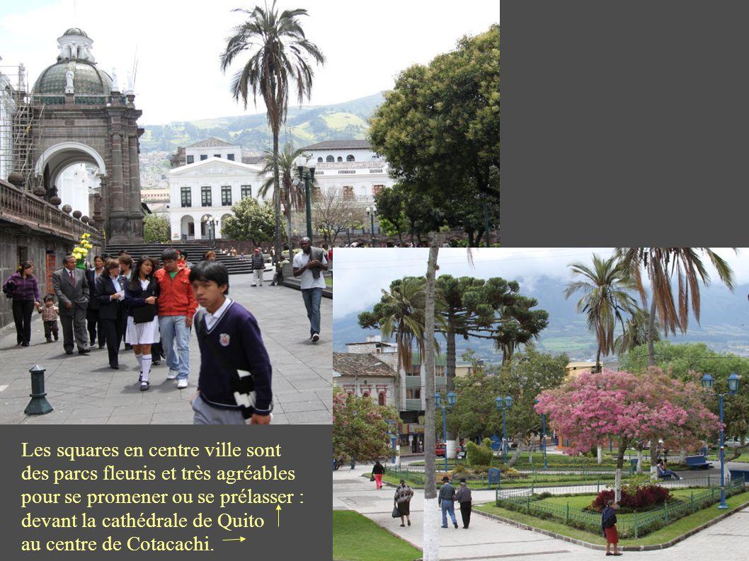 Il y a beaucoup de jeunes, le jour et le soir à Cotacachi et à Cuenca