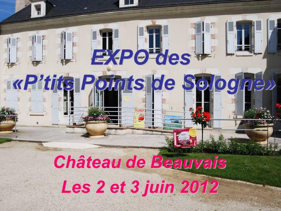 EXPO des «Ptits Points de Sologne» Château de Beauvais Les 2 et 3 juin 2012