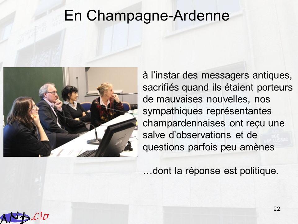 22 En Champagne-Ardenne à linstar des messagers antiques, sacrifiés quand ils étaient porteurs de mauvaises nouvelles, nos sympathiques représentantes
