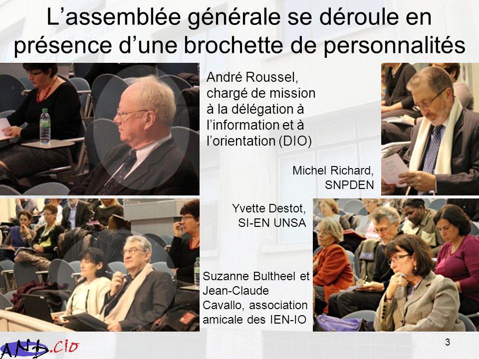 3 Lassemblée générale se déroule en présence dune brochette de personnalités André Roussel, chargé de mission à la délégation à linformation et à lori