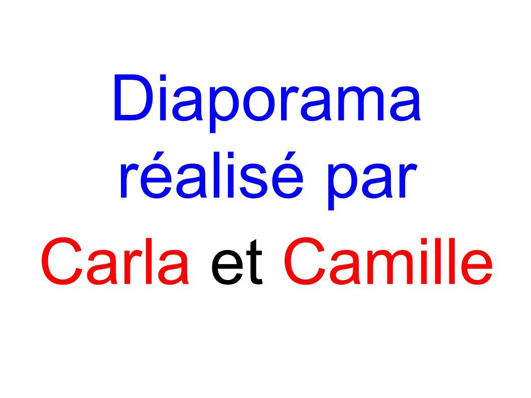 Diaporama réalisé par Carla et Camille
