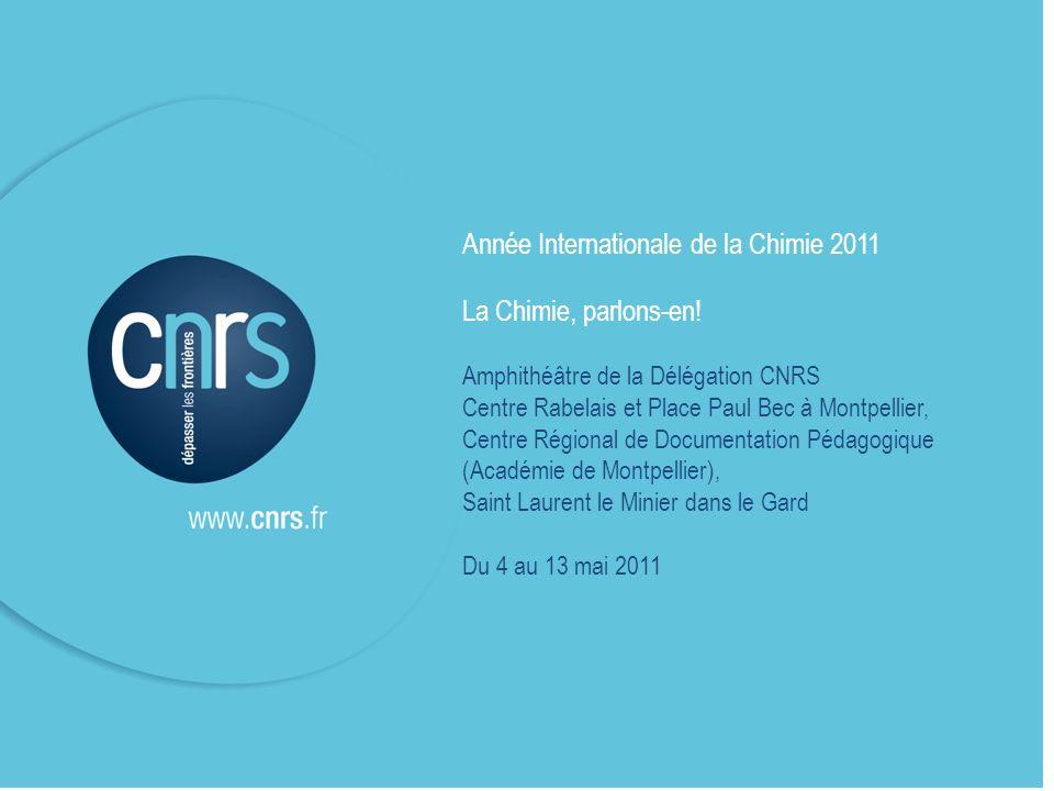P. 1 Année Internationale de la Chimie 2011-Délégation CNRS Languedoc Roussillon-Mai 2011 Année Internationale de la Chimie 2011 La Chimie, parlons-en