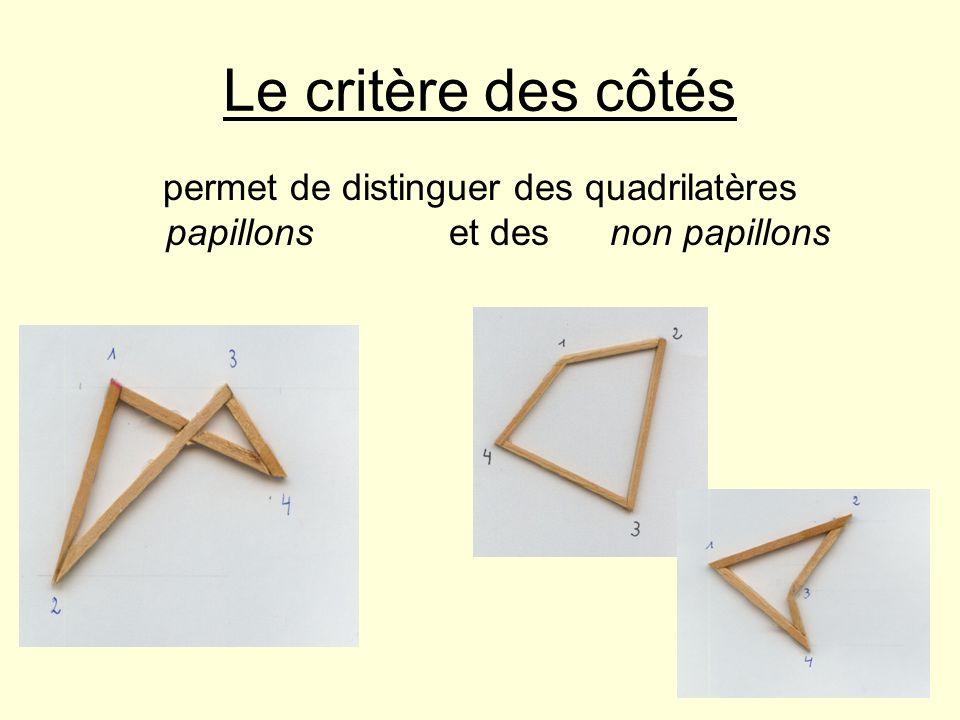 Le critère des côtés permet de distinguer des quadrilatères papillons et des non papillons