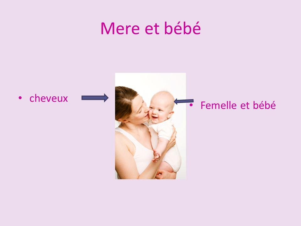Mere et bébé cheveux Femelle et bébé