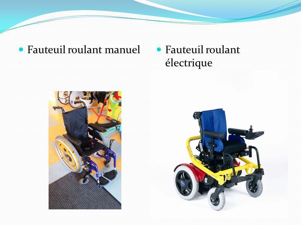 Fauteuil roulant manuel Fauteuil roulant électrique