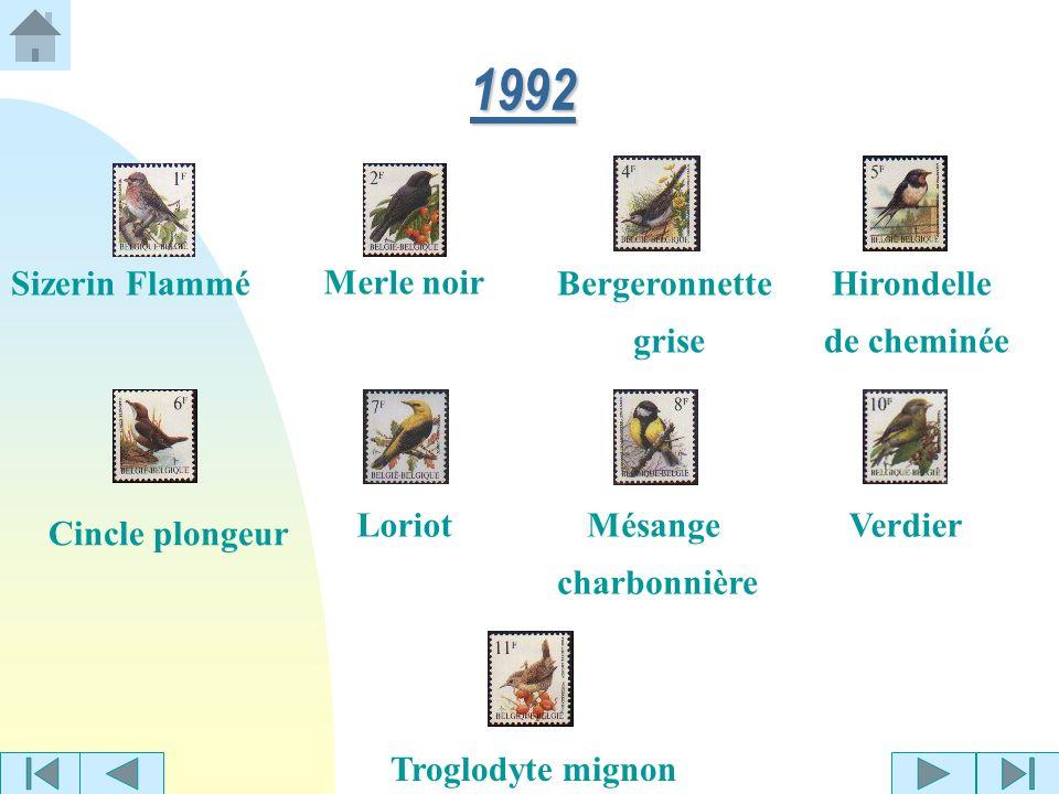 Bruant des roseaux Roitelet huppéGrive musicienne 1991