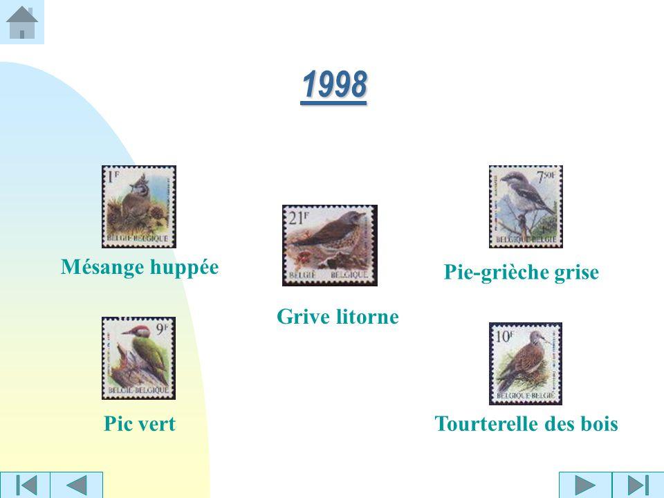 1997 Alouette des champs Bergeronnette printanière Mésange boréale (hor.) Pie bavarde