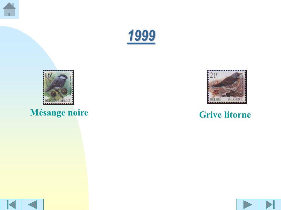 Mésange huppée 1998 Pie-grièche grise Pic vertTourterelle des bois Grive litorne