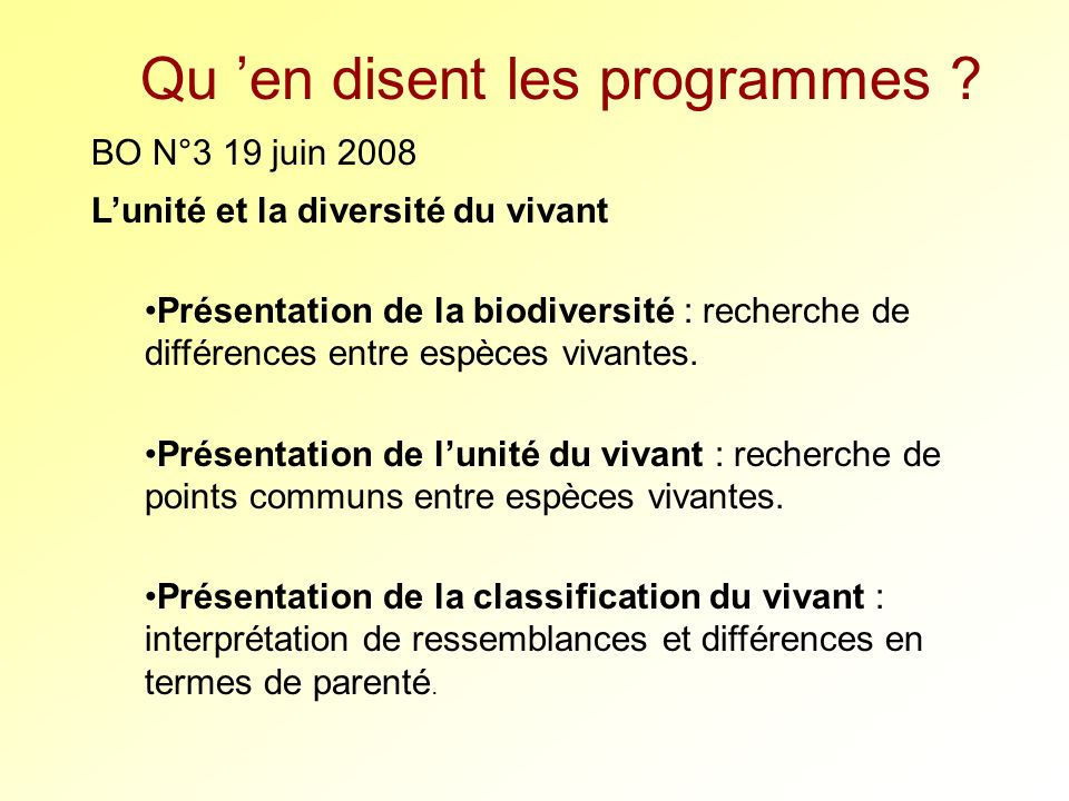 Bibliographie sur la classification phylogénétique : - Comprendre et enseigner la classification du du vivant, Belin – Bonnet ML, Cariuo F, Duco A, Guillot G, Lebas C, Lecointre… 2005 Ouvrage fondamental, exemples de séquences testées, fiches photocopiables.