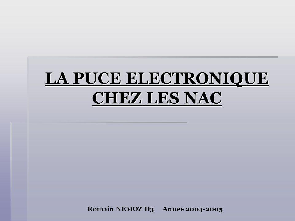 LA PUCE ELECTRONIQUE CHEZ LES NAC Romain NEMOZ D3 Année 2004-2005