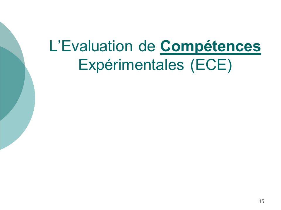 LEvaluation de Compétences Expérimentales (ECE) 45