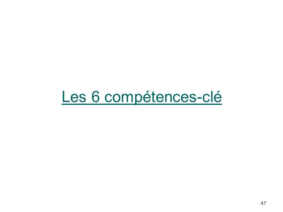 47 Les 6 compétences-clé