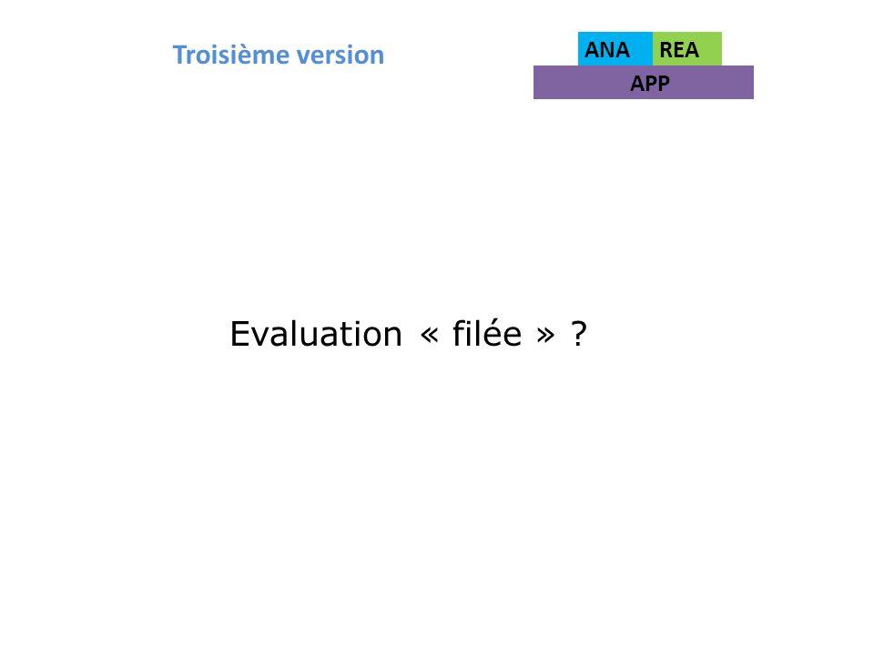 Troisième version ANAREA APP Evaluation « filée » ?