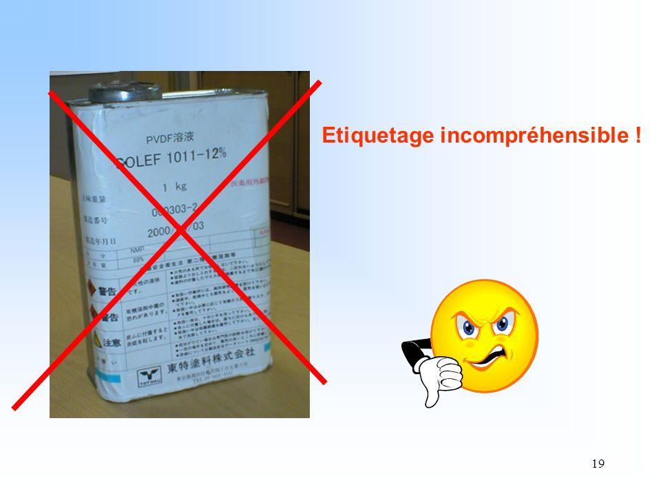 19 Etiquetage incompréhensible !