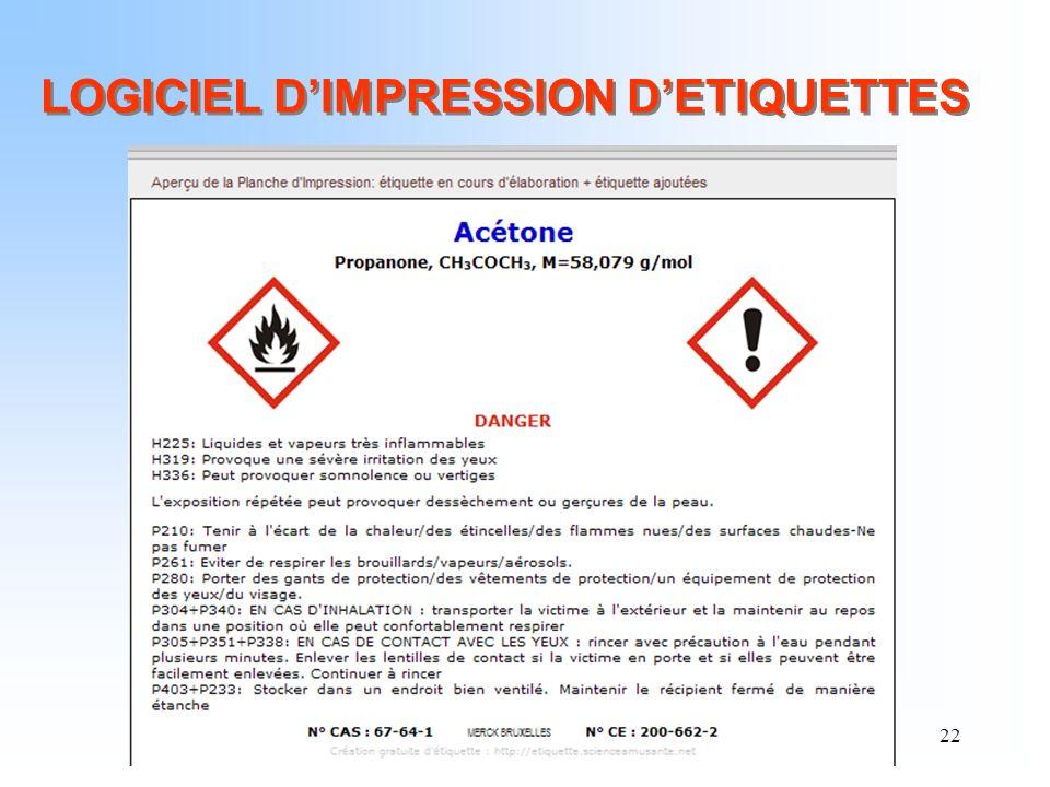 22 LOGICIEL DIMPRESSION DETIQUETTES
