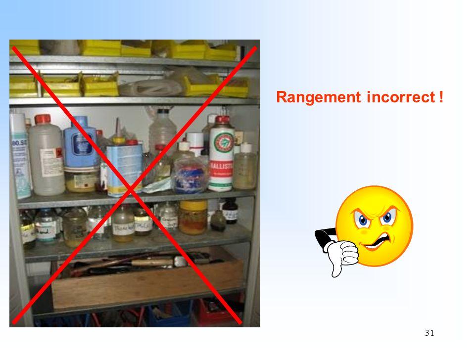 31 Rangement incorrect !