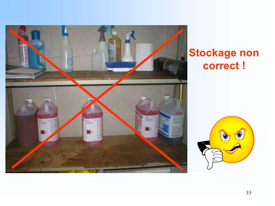 33 Stockage non correct !