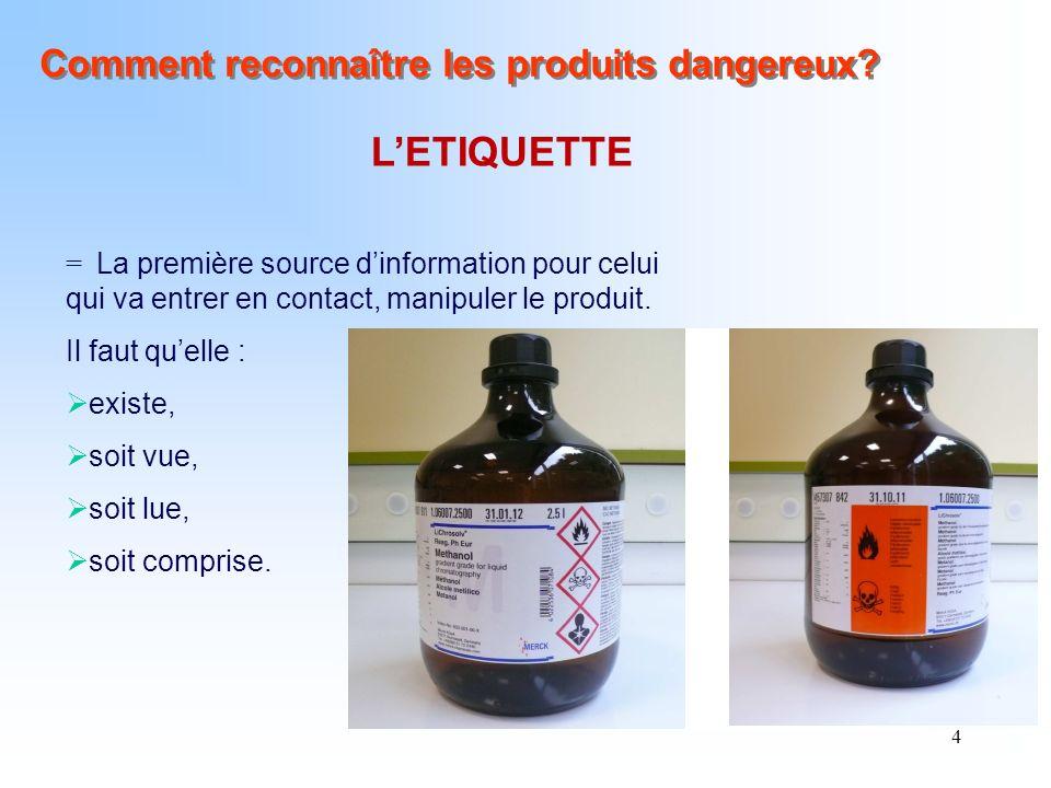 5 OU RENCONTRE-T-ON LES PRODUITS DANGEREUX .