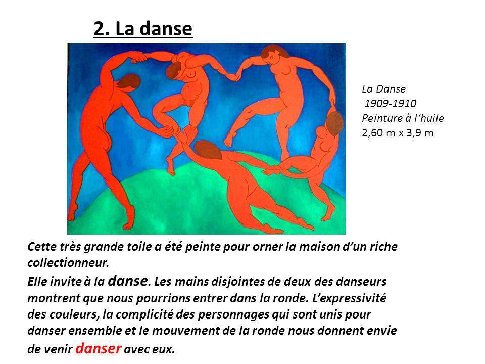 Cette très grande toile a été peinte pour orner la maison dun riche collectionneur. Elle invite à la danse. Les mains disjointes de deux des danseurs