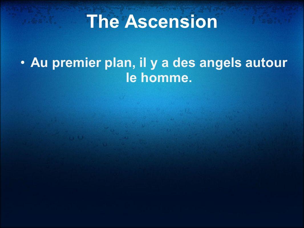 Au second plan, les hommes sur la sol être aveugle par la lumière. The Ascension