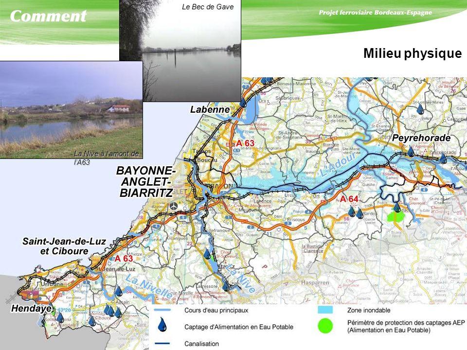 Milieu physique Le Bec de Gave La Nive à lamont de lA63