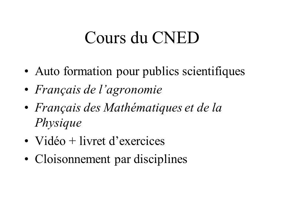 Tendances actuelles Fixer des objectifs par compétence: Public scientifique étudiant = suivre des cours, etc.