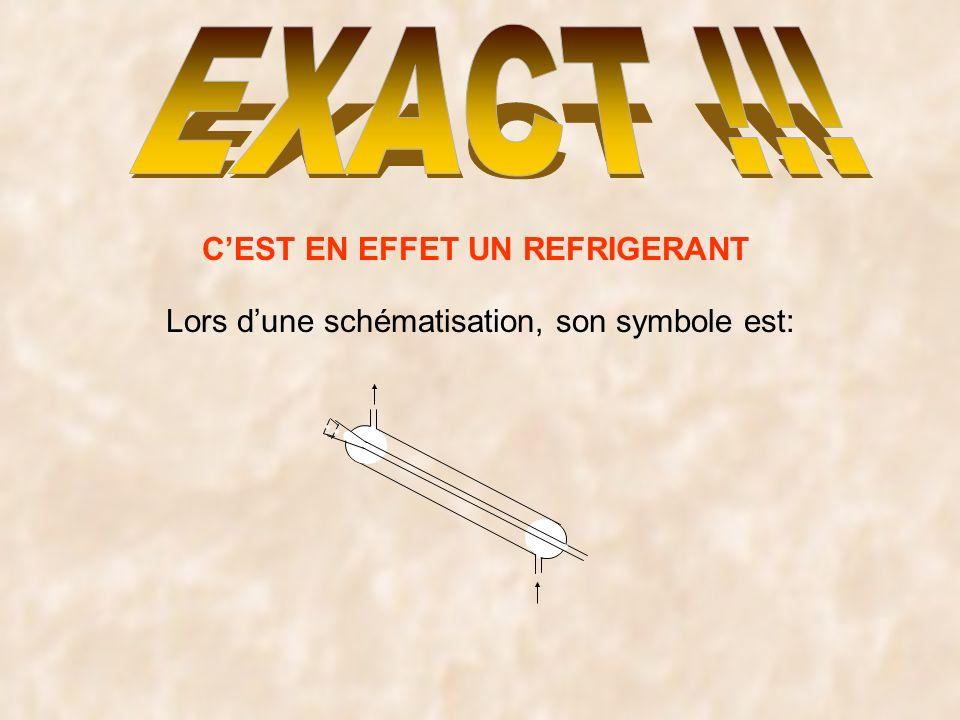CEST EN EFFET UN REFRIGERANT Lors dune schématisation, son symbole est: