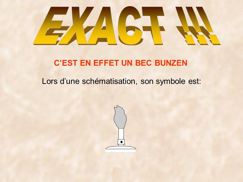 CEST EN EFFET UN BEC BUNZEN Lors dune schématisation, son symbole est: