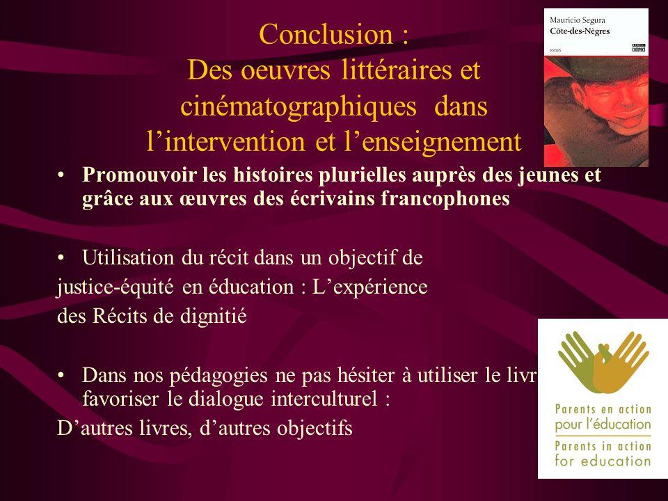 Promouvoir les histoires plurielles auprès des jeunes et grâce aux œuvres des écrivains francophones Utilisation du récit dans un objectif de justice-