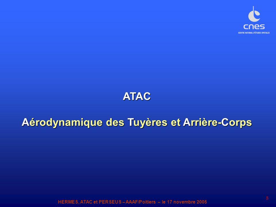HERMES, ATAC et PERSEUS – AAAF/Poitiers – le 17 novembre 2005 8 ATAC Aérodynamique des Tuyères et Arrière-Corps