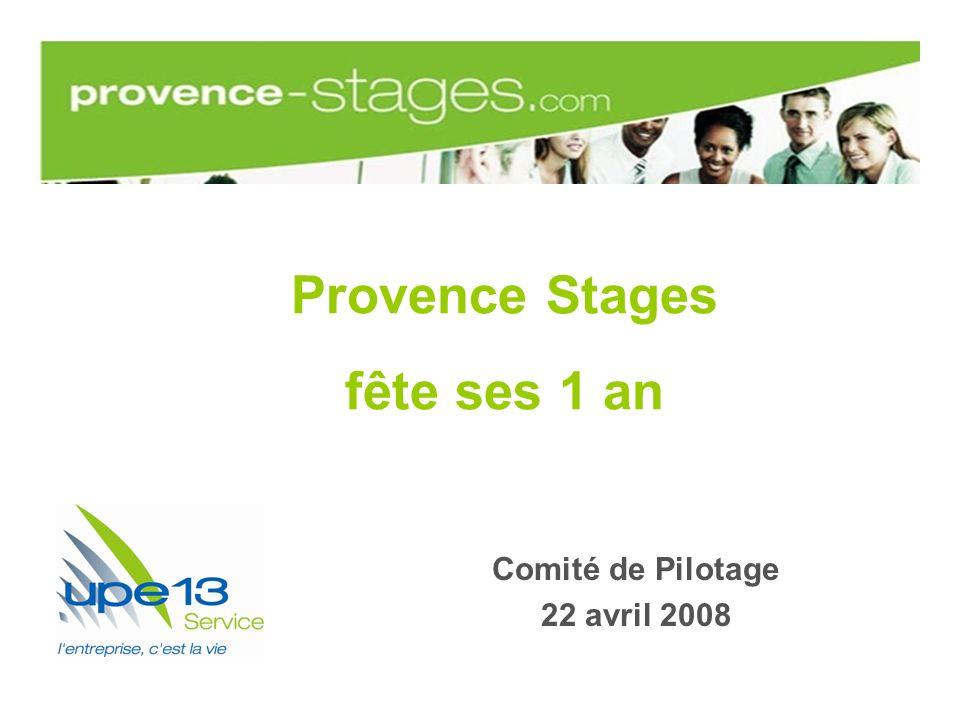 Provence Stages fête ses 1 an Comité de Pilotage 22 avril 2008