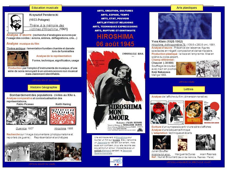 Krzysztof Penderecki (1933-Pologne) Thrène à la mémoire des victimes dHiroshima (1961) Analyse dœuvre (recherche danalogies sonores par lusage des cor