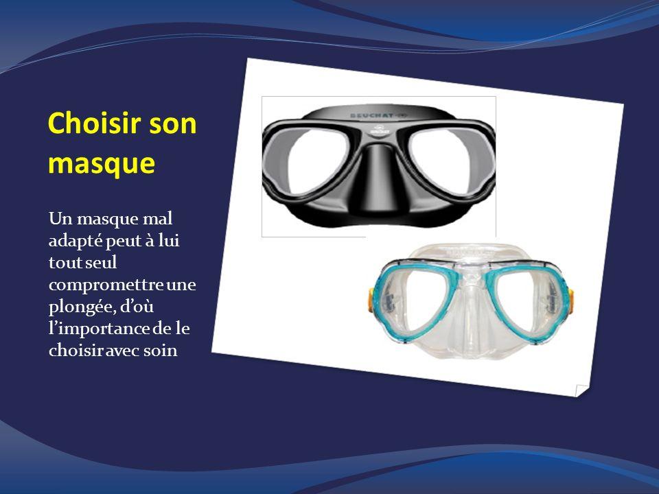 Choisir son masque Un masque mal adapté peut à lui tout seul compromettre une plongée, doù limportance de le choisir avec soin