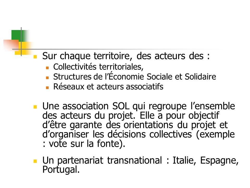 Sur chaque territoire, des acteurs des : Collectivités territoriales, Structures de lÉconomie Sociale et Solidaire Réseaux et acteurs associatifs Une