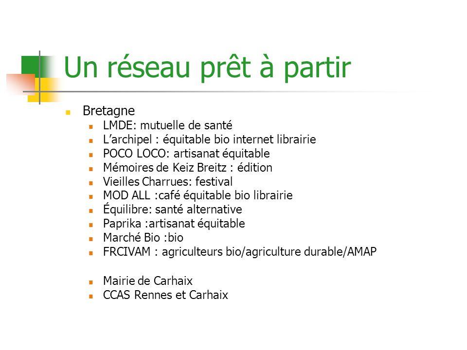 Un réseau prêt à partir Bretagne LMDE: mutuelle de santé Larchipel : équitable bio internet librairie POCO LOCO: artisanat équitable Mémoires de Keiz