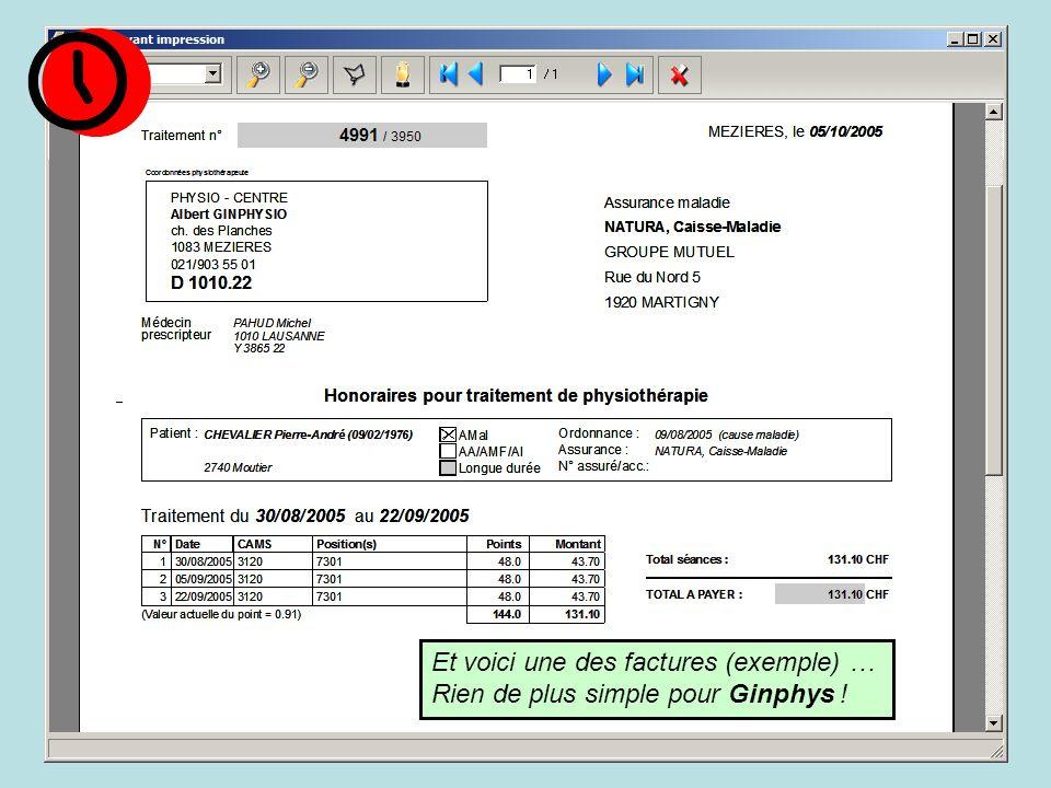 Et voici une des factures (exemple) … Rien de plus simple pour Ginphys !