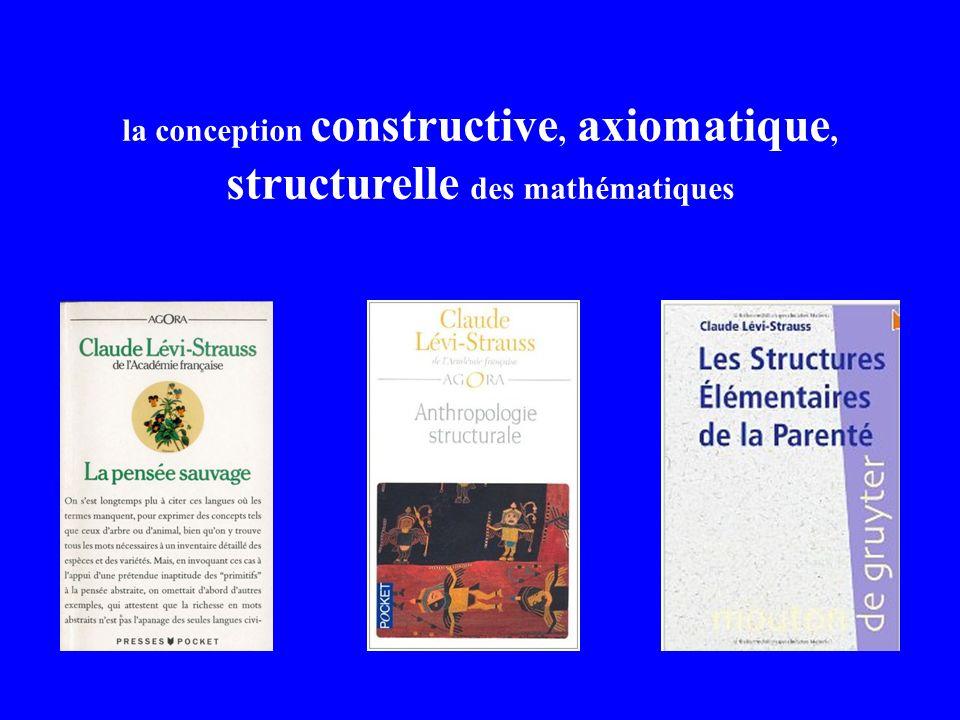 la conception constructive, axiomatique, structurelle des mathématiques
