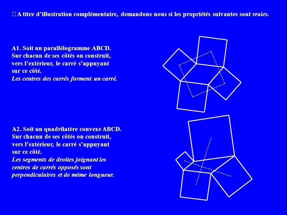 A titre dillustration complémentaire, demandons-nous si les propriétés suivantes sont vraies.