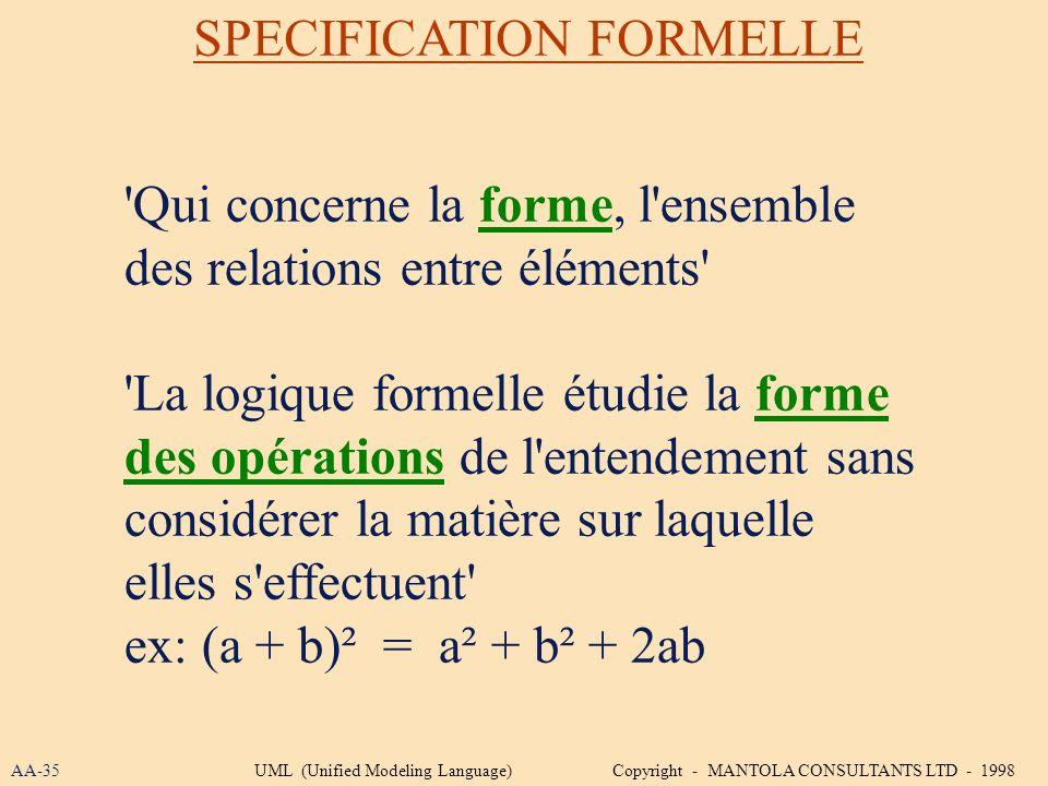 'Qui concerne la forme, l'ensemble des relations entre éléments' 'La logique formelle étudie la forme des opérations de l'entendement sans considérer