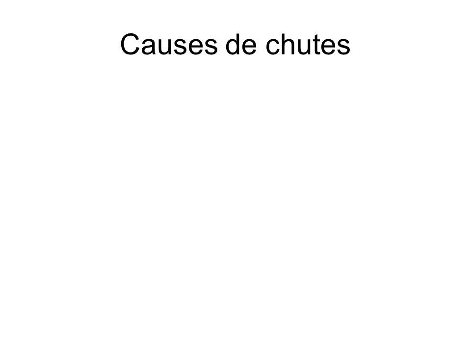 Causes de chutes