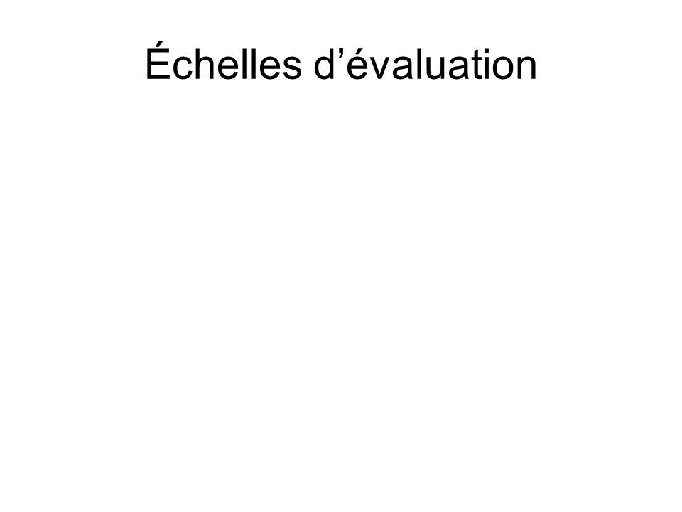 Échelles dévaluation