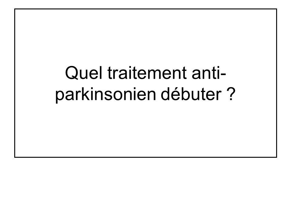 Quel traitement anti- parkinsonien débuter ?