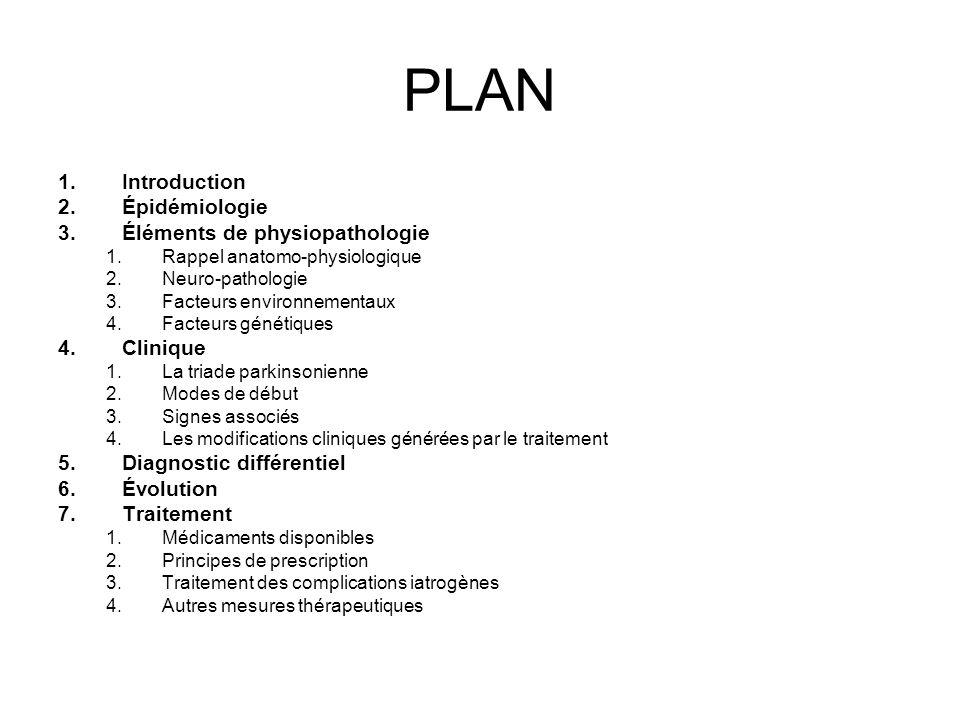 PLAN 1.Introduction 2.Épidémiologie 3.Éléments de physiopathologie 1.Rappel anatomo-physiologique 2.Neuro-pathologie 3.Facteurs environnementaux 4.Fac