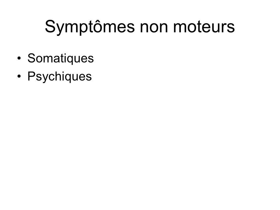 Symptômes non moteurs Somatiques Psychiques