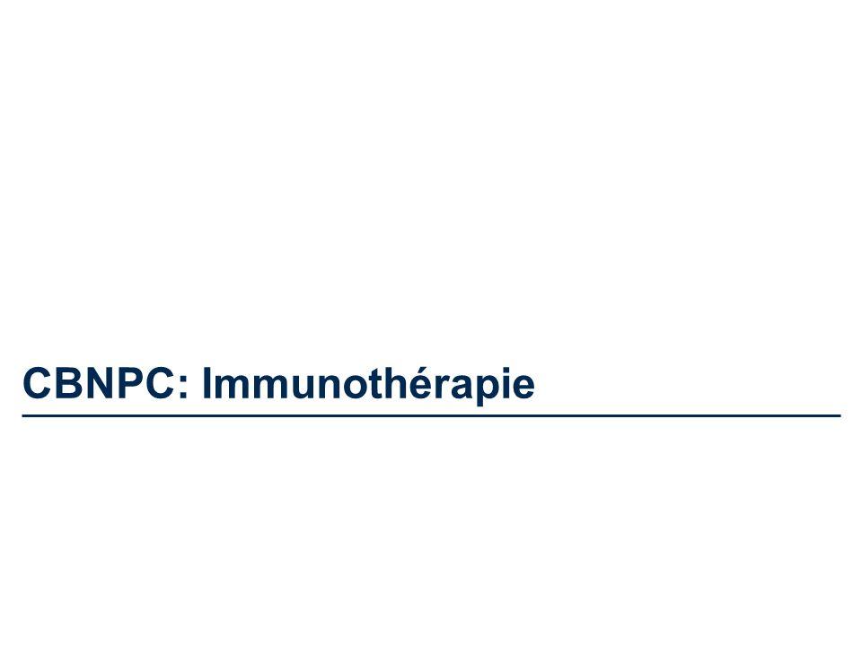 CBNPC: Immunothérapie
