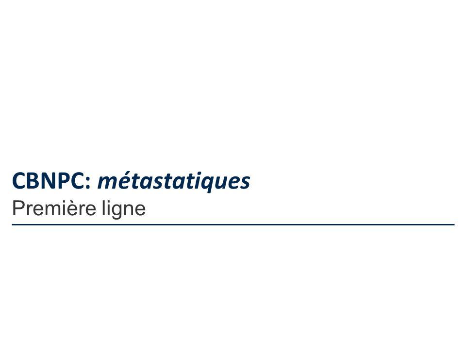 CBNPC: métastatiques Première ligne