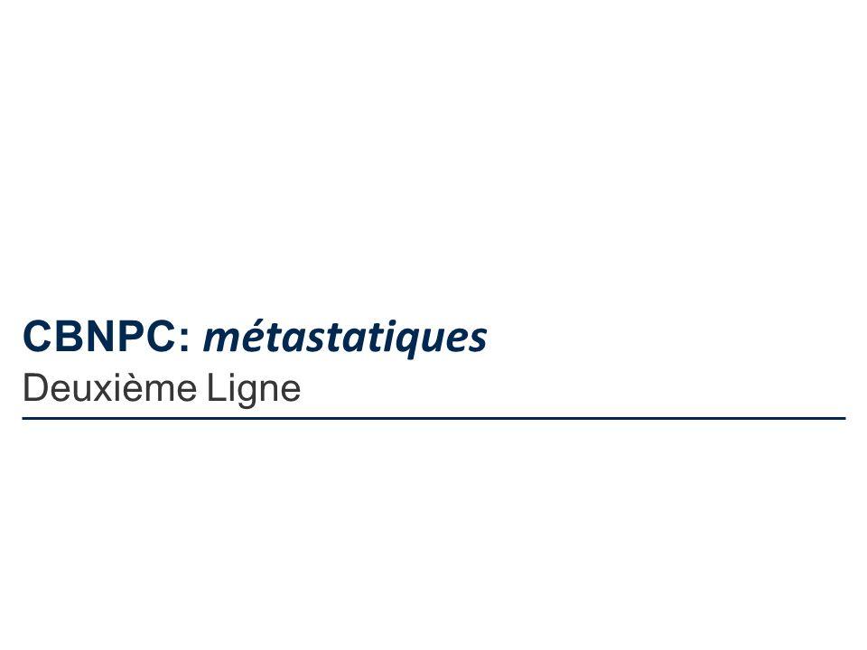 CBNPC: métastatiques Deuxième Ligne