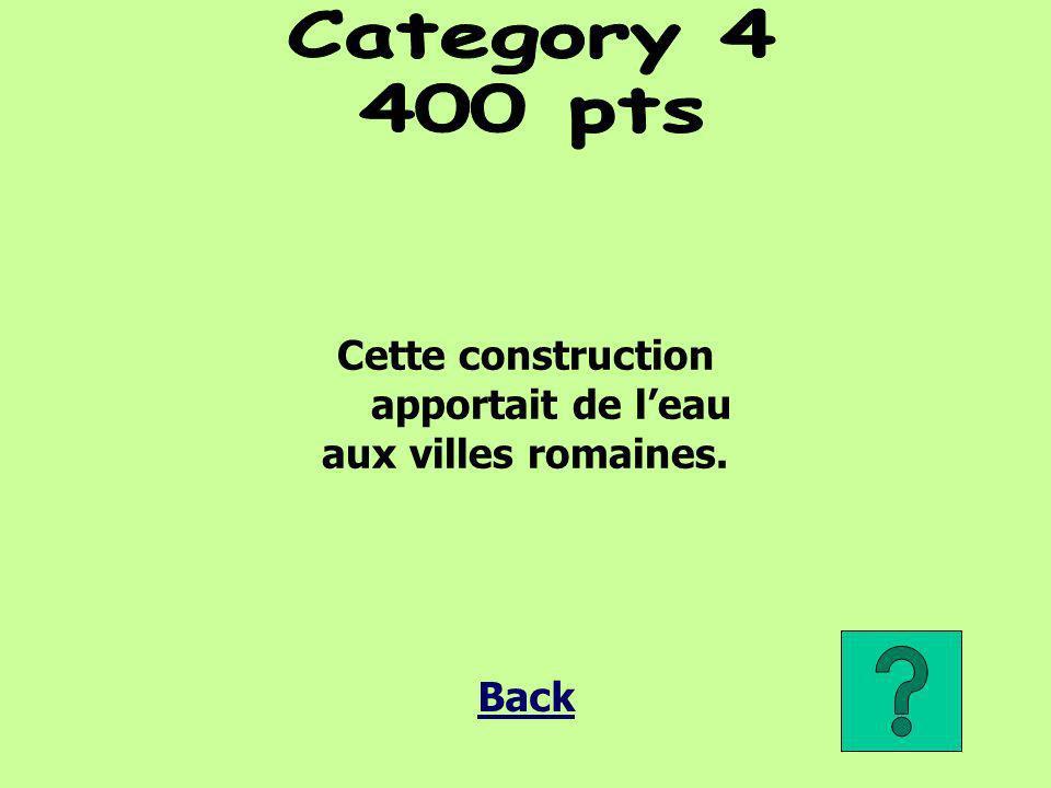 Cette construction apportait de leau aux villes romaines.